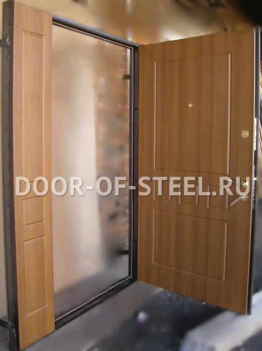 монтаж металлической двери в тамбур москва