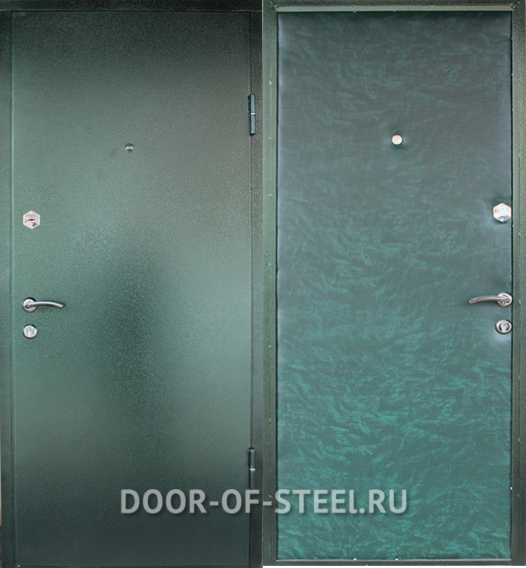 стальные прочные двери без отделки