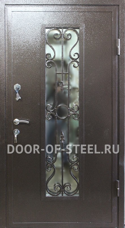 металлические двери со стеклом в москве